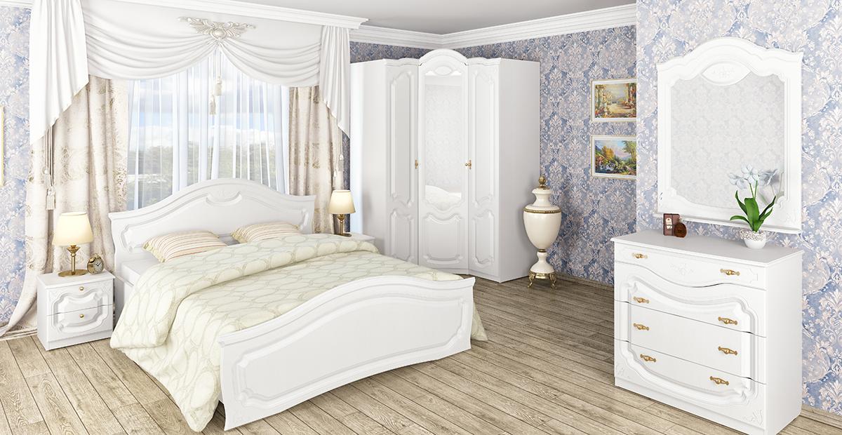 купить спальню орхидея белая мебель неман в минске